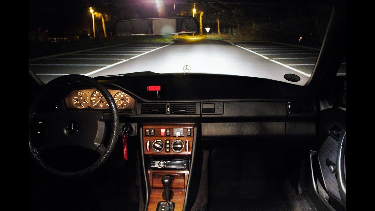 Mercedes W124 300e Short Night Drive Youtube
