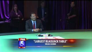 Fox5 - World's Largest Blackjack Table at Viejas Casino