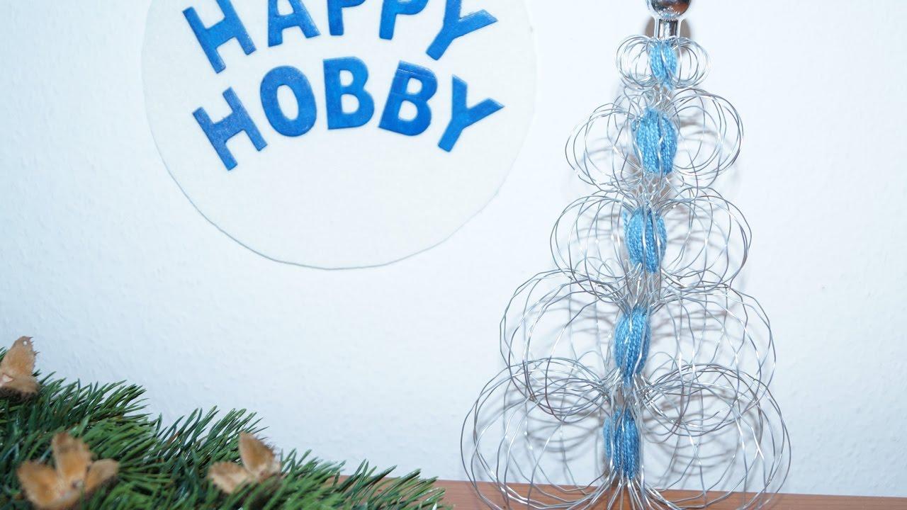 Weihnachtsbaum Drahtgestell.Weihnachtsbaum Basteln Aus Gartendraht Und Faden Diy Nr 20