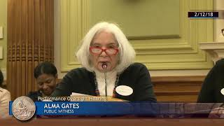 AlmaGatesTestimonyDC Health Committee Hearing Assisted Living