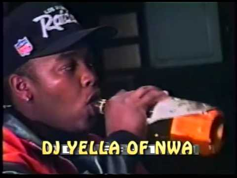 N.W.A Chilling In Studio 1990  Lost Footage pt.10 DJ Yella of NWA