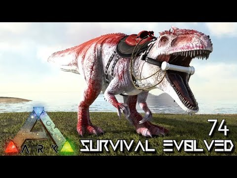 ARK: SURVIVAL EVOLVED - ALPHA GIGANOTOSAURUS KING GIGA TAMING E74 !!! ( ARK EXTINCTION CORE MODDED )
