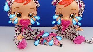 Ağlayan İkiz Bebekler! Hangisi Gerçek? Ses ve Gözyaşı Çıkartyorlar! Bidünya Oyuncak