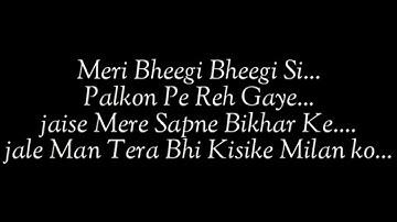 Meri bheegi bheegi si.. Lyrics New version (Tiktok popular song)