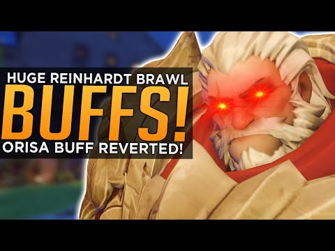 Overwatch: HUGE Reinhardt Brawl BUFFS! - Orisa BUFF Reverted!