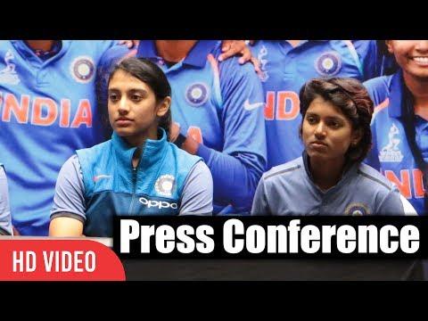 Smriti Mandhana, Punam Raut, Deepti Sharma | Press Conference | India Women's Cricket Team