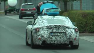 2018 Toyota Supra Or BMW Z5 Coupe Spied On The Road - Part 1?