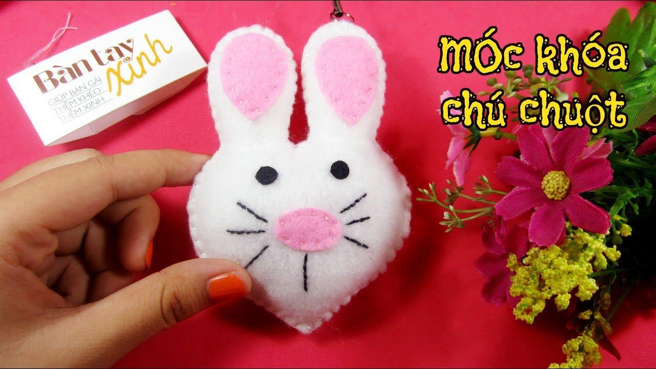 Bàn tay xinh : Bộ số 3: May móc khóa chú chuột xinh xắn / Ami Channel
