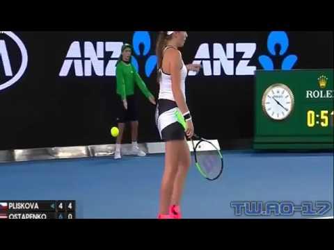 Karolina Pliskova Vs Jelena Ostapenko Highlights (HD) 3rd Round 21 01