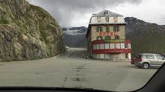 Road to Hotel Belvedere and ultimate Goldfinger experience - Furka Pass, Switzerland