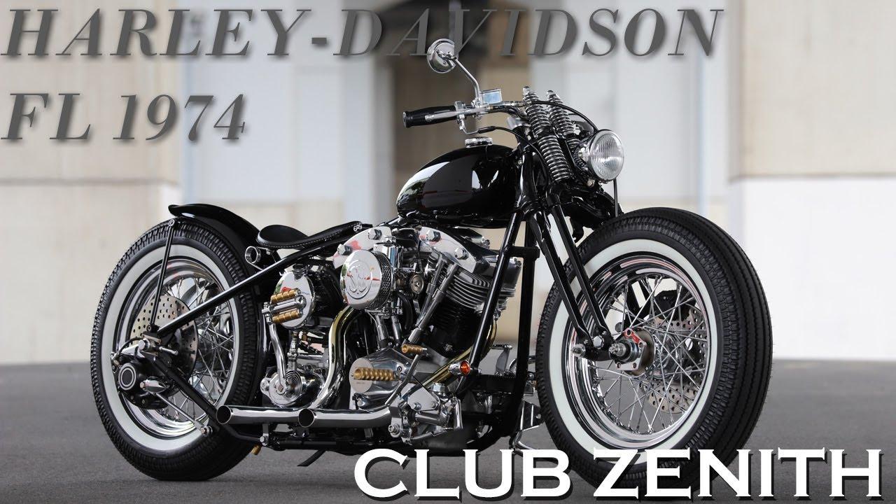 【ハーレーダビッドソンのオールドスクールチョッパー】CLUB ZENITH / H-D FL 1974(メカニック 金子)
