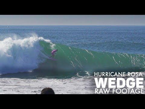 Surfing HURRICANE ROSA - Wedge - RAW FOOTAGE