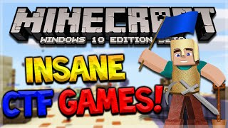 INSANE CAPTURE THE FLAG!! Minecraft Windows 10 Lifeboat Mini-Games CTF (Pocket Edition)