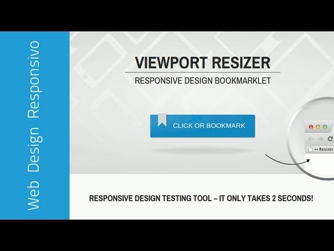 Viewport Resizer: testes com web design responsivo