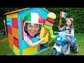 Kid Pretend Play With Cooking Food Truck BBQ Gril Toy and Öykü fun Kid Video