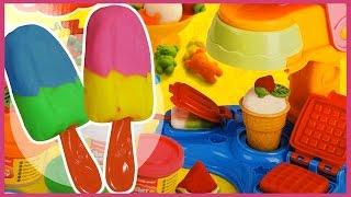 Лепим мороженое из пластилина. Плей До / Play Doh.