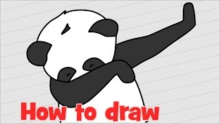 How to draw Panda dab step by step