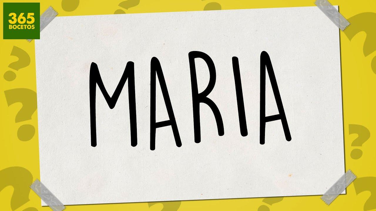 SACAR UN DIBUJO DE MI NOMBRE  Dibujos faciles paso a paso  MARIA