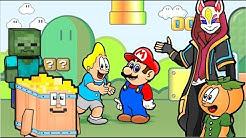 Por dentro dos Games - Desenho com Minecraft, Fortnite, Mario Bros, Street Fighter
