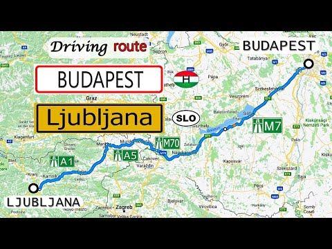Driving route Budapest HU - Ljubljana SLO | Sony AS300