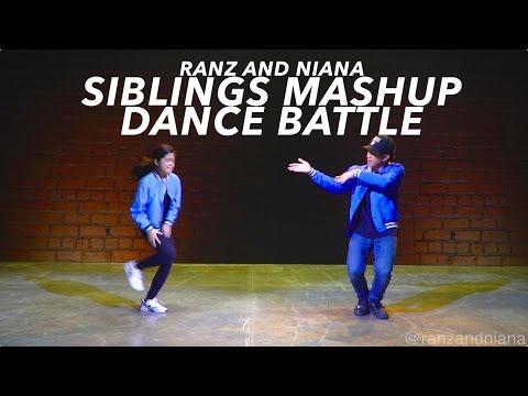 Siblings Mashup Dance Battle (Bruno Mars - That's What I Like Mix) | Ranz and Niana
