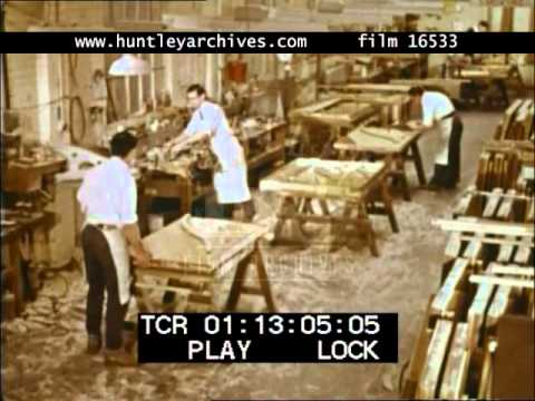 Piano Makers, 1960's - Film 16533