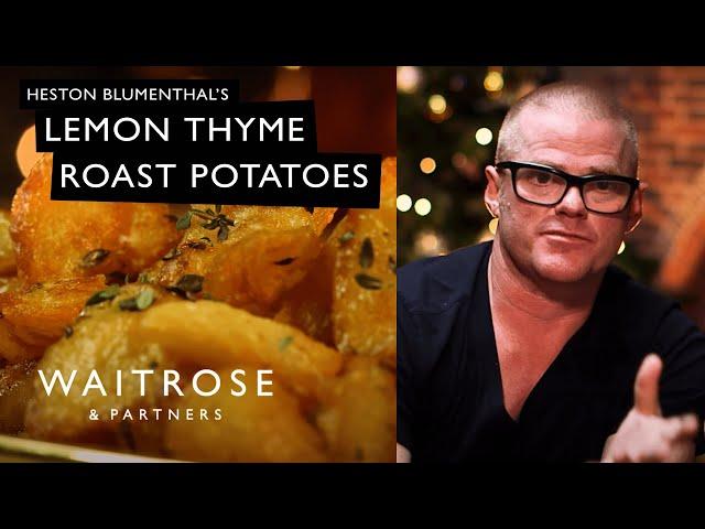Hestons Christmas Classics | Lemon Thyme Roast Potatoes | Waitrose and Partners