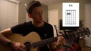 No Matter What Calum Scott Easy Guitar Lesson Open Chords