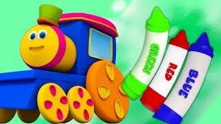 Bob le train | Crayons couleurs chanson | éducative vidéo | apprendre couleurs | Crayons Colors Song