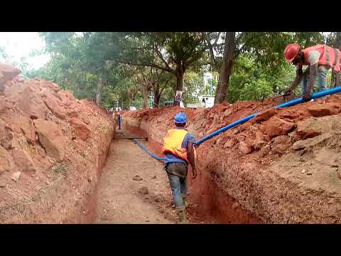 33KV UNDERGROUND CABLE LAYING IN ACCRA.