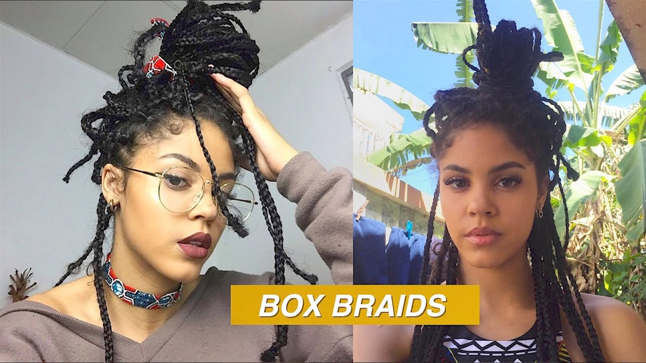 Box Braids Tutorial Messy Style Youtube