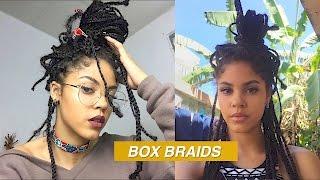 box braids tutorial messy style