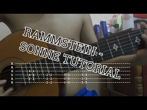 Rammstein - Sonne Tutorial / Lesson   Guitar Acoustic Tab