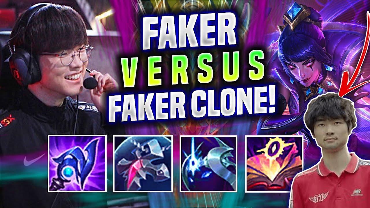 FAKER LEBLANC vs FAKER CLONE LISSANDRA😂 - T1 Faker Plays Leblanc Mid vs Lissandra!   T1 Faker Replay
