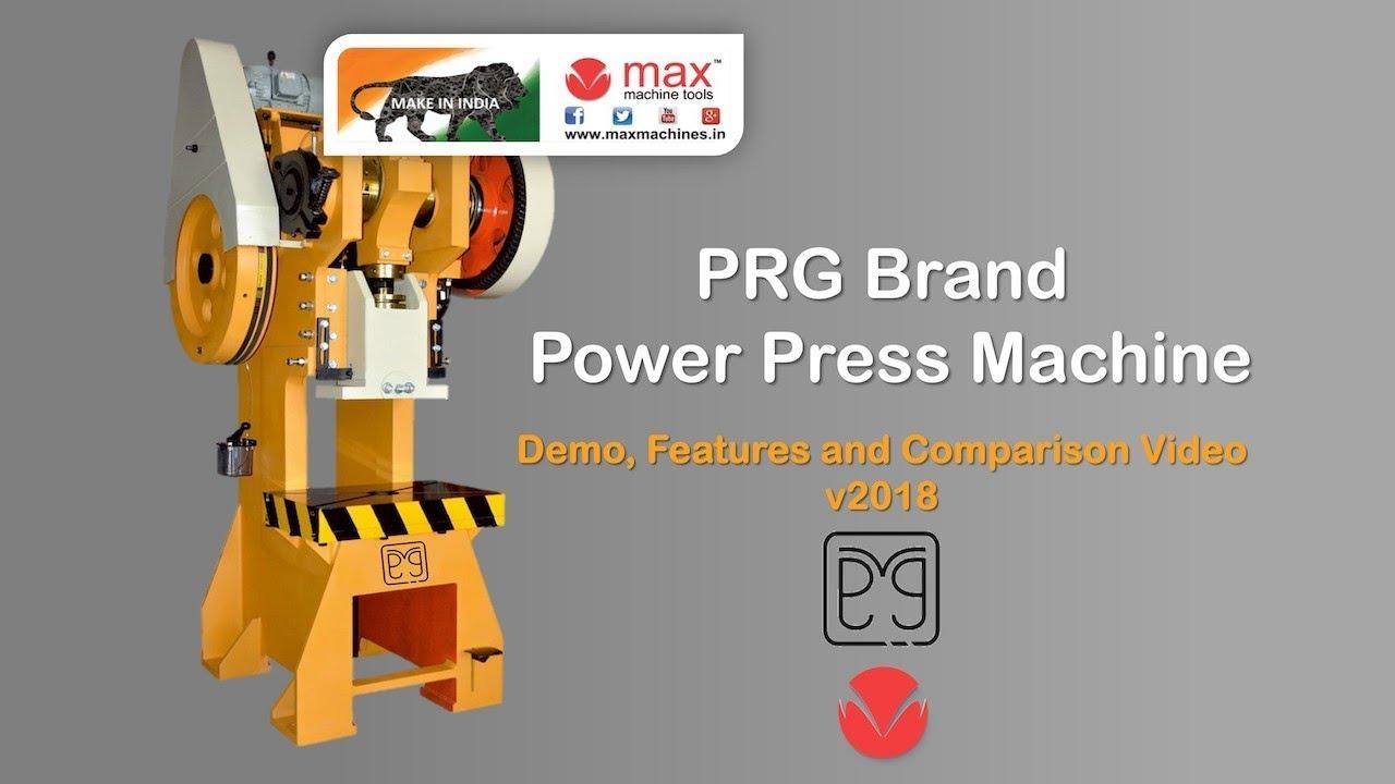 Power Press Machine Working Model 2018 Prg Brand Mechanical Press Gujarat Maxmachines In Youtube
