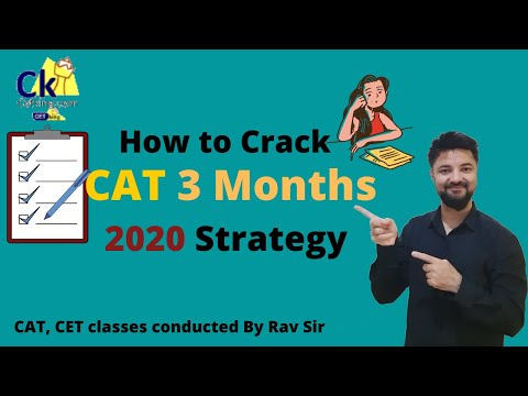 3 months to CAT. strategy planning workshop.