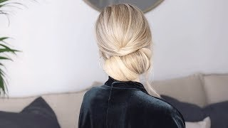 Aveda How-To | Simple Soft Holiday Updo Tutorial with Alex Gaboury