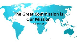 """COTR Live Stream 6-20-2021 - """"The Great Commission is Our Mission - Acts 17:16-34"""""""