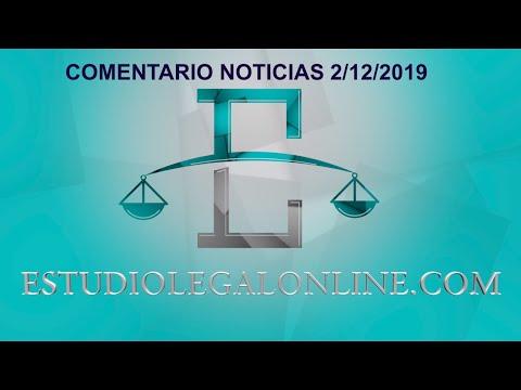 Comentarios Noticias Estudiolegal 2/12/2019 www.estudiolegalonline.com