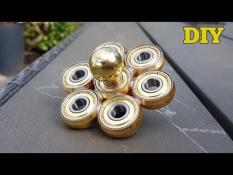 DIY GOLD FIDGET SPINNER - How To Make