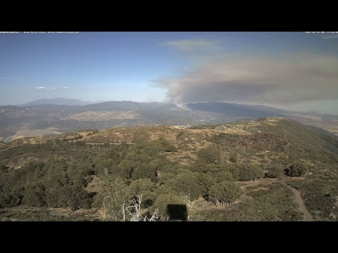 HPWREN Live Stream - Lost Fire, seen from High Point east
