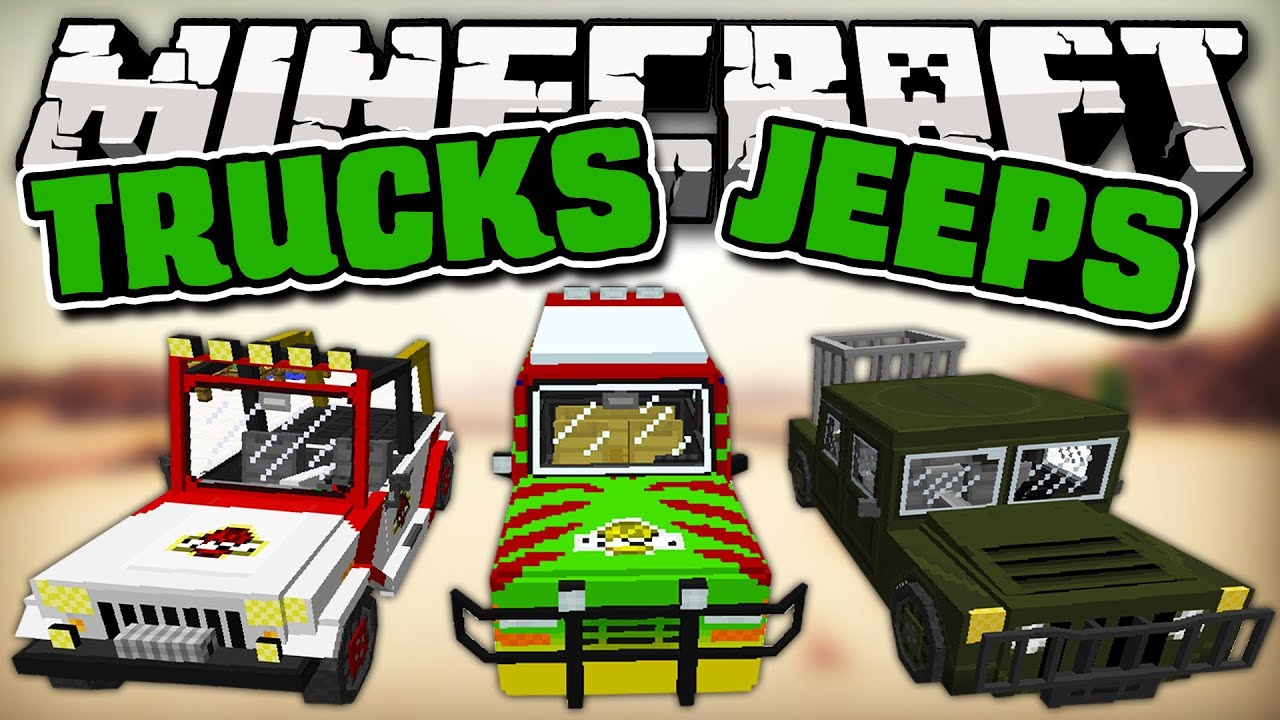 Minecraft Trucks Jeeps Mod Carros Motos E Jeeps Youtube
