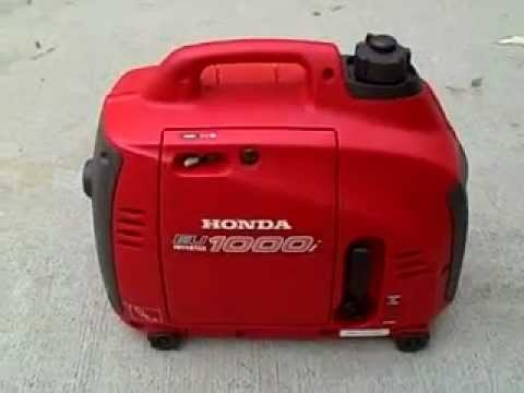 Honda EU1000i Gas Generator - YouTube