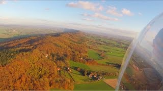 Porta Westfalica autumn ridge soaring with DSA
