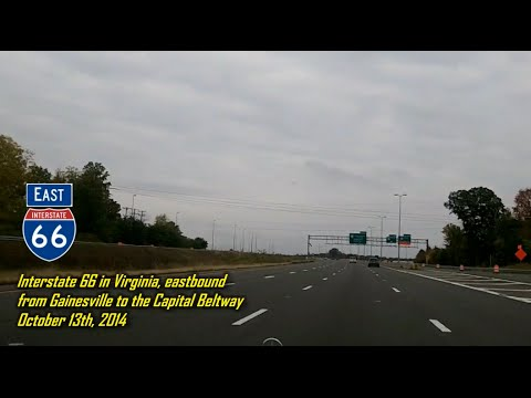Interstate 66 In Virginia -  Eastbound From Gainesville To The Capital Beltway
