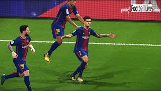 PES 2018 | Barcelona vs Alaves | Coutinho 2 amazing goals | Gameplay PC