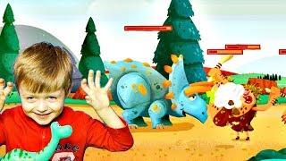 Игра про Динозавров для Детей Защищаем Яйцо от Траглодитов #2  Мультик про Динозавров Lion boy