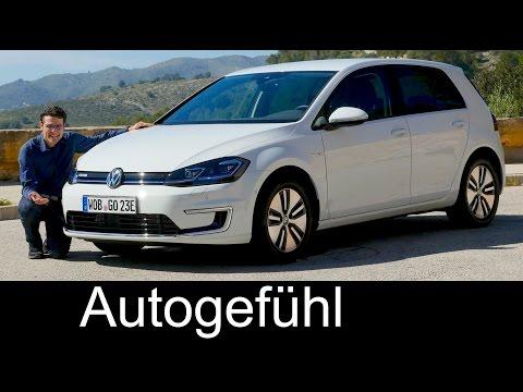 Volkswagen e-Golf FULL REVIEW VW eGolf range Facelift 2018/2017 - Autogefühl