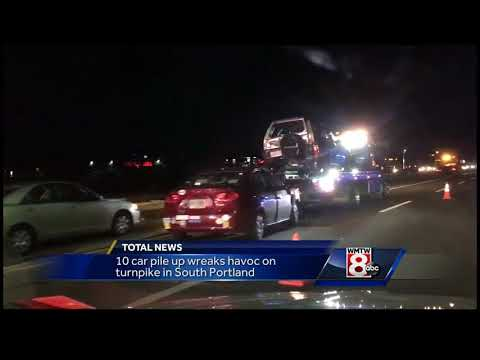 Police: 10-car pileup causes traffic on Maine Turnpike