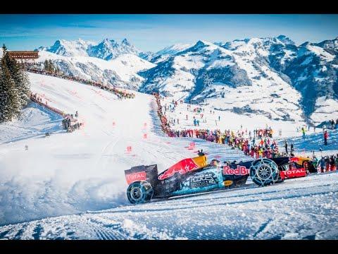 Background Max Verstappen F1 Snow Demo Red Bull RB7 Hahnenkamm, Kitzbühel, 14/01/2016